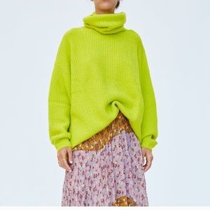 Zara oversized neon sweater